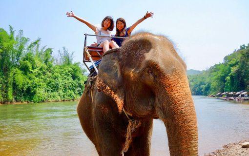 【バンコク発】象乗りやいかだ乗り付き!マニアックカンチャナブリー