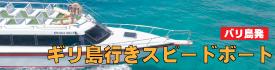 バリ島発 ギリ島行きスピードボートお手配致します!